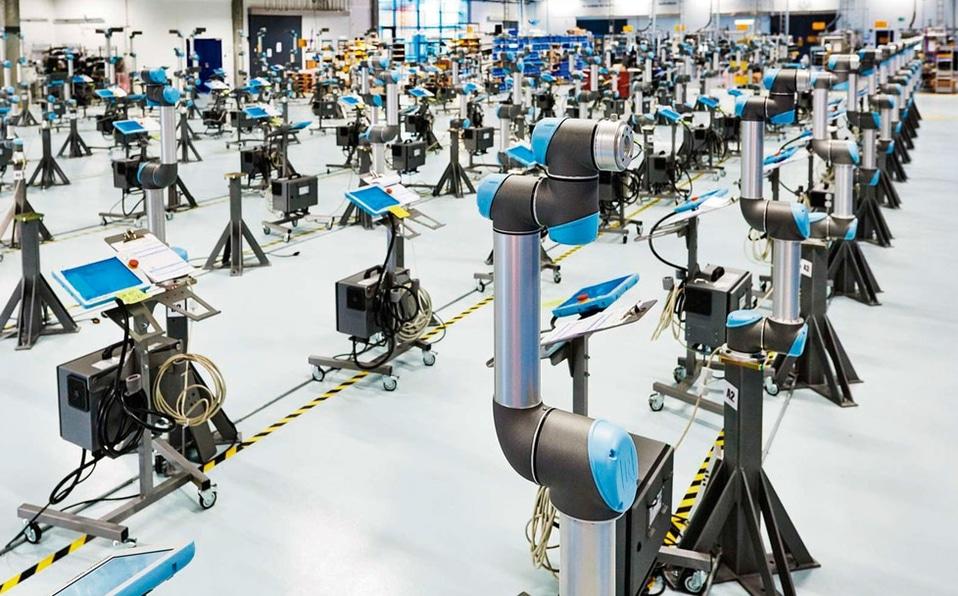 brazo robotico industrial automotriz